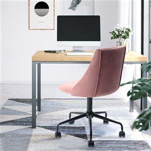 FurnitureR Adjustable Velvet Office Chair