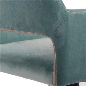 FurnitureR Modern Adjustable Office Chair - Aqua