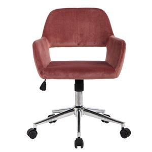 FurnitureR Modern Adjustable Office Chair - Rose