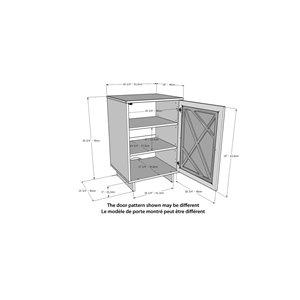 Nexera Paragon 1-Door Rectangular Storage Cabinet - Black