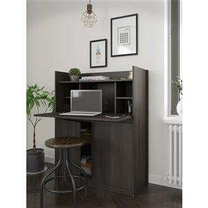 Nexera Chrono Secretary Desk - 36-in - Ebony
