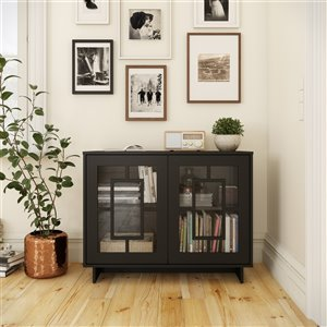 Nexera Paragon 2-Door Rectangular Storage Cabinet - Black