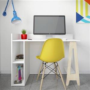 Nexera Atypik Open Storage Plywood Desk - 44-in - White