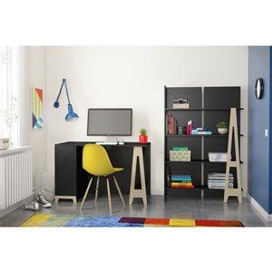 Nexera Atypik 2-Drawer Plywood Desk - 47-in - Black
