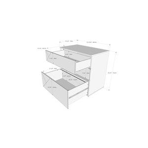 Nexera Atypik Plywood Home Office Set - 3 Pieces - Black/Greige