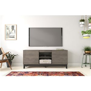 Nexera Rhapsody TV Stand - 63-in - Black/Grey
