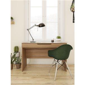 Nexera Arobas Desk with Drawer - 47-in - Nutmeg