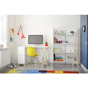Nexera Atypik 2-Piece Plywood Home Office Set - White
