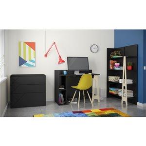 Nexera Atypik Open Storage Plywood Desk - 44-in - Black