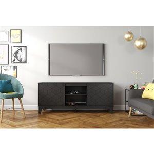 Nexera Hexagon TV Stand - 63-in - Black