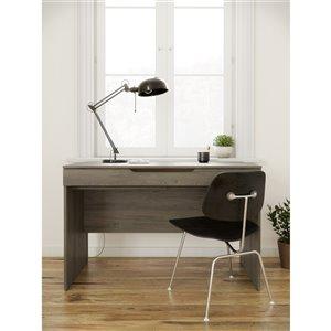 Nexera Arobas Desk with Drawer - 47-in - Bark Grey