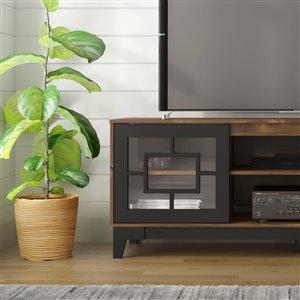 Nexera Magnolia TV Stand - 72-in - Black/Truffle