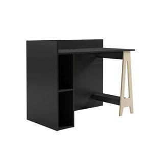 Nexera Atypik 2-Piece Plywood Home Office Set - Black