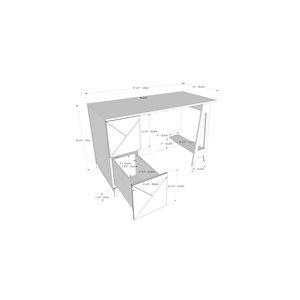 Nexera Atypik Plywood Home Office Set - 2 Pieces - Black/Greige
