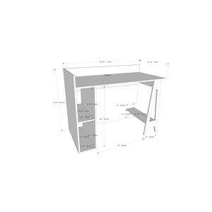 Nexera Atypik 2-Piece Contemporary Plywood Home Office Set - Black