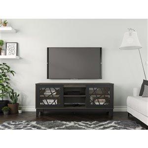 Nexera Graphik TV Stand - 63-in - Black/Grey