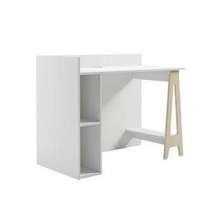 Nexera Atypik Plywood Home Office Set - 3 Pieces - White