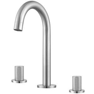 Ancona Industria Widespread Bathroom Sink Faucet - 2-Handle - Brushed Nickel