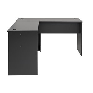 Prepac L-shaped Office Desk - 56-in - Black