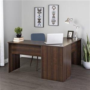 Prepac L-shaped Office Desk - 56-in - Espresso