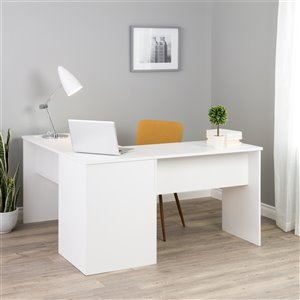 Prepac L-shaped Office Desk - 56-in - White