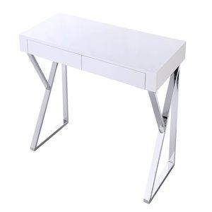 Plata Import Maca Wood Desk - 30-in x 48-in - White