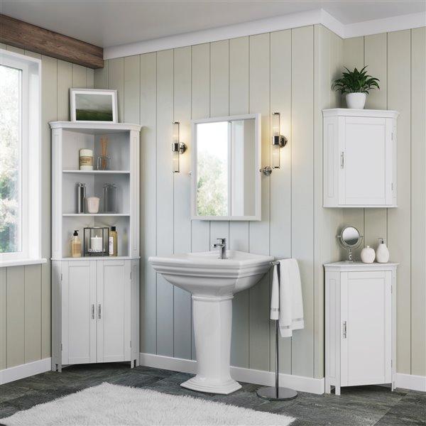 Riverridge Home Somerset Tall 2 Door Corner Cabinet White Lowe S Canada