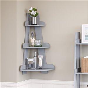 RiverRidge Home Amery Corner Ladder Wall Shelf - Grey