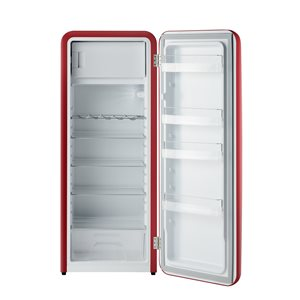 iio Retro Single Door Refrigerator with Freezerette- 10 cu. ft. – Red