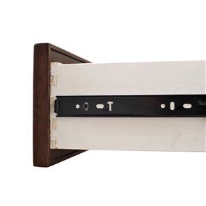 Domus Vita Design Princeton 1-Drawer Nighstand - Tobacco