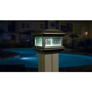 Classy Caps Colonial Solar Post Light - LED - Black Aluminum