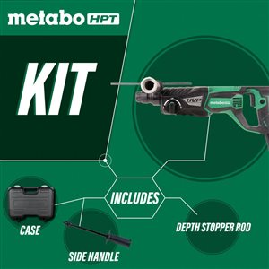 Metabo HPT (was Hitachi Power Tools) 1-1/8-in 3 Mode SDS Plus Rotary Hammer with UVP