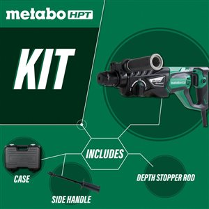 Metabo HPT (was Hitachi Power Tools) 1-in 3-Mode SDS Plus Rotary Hammer with Case