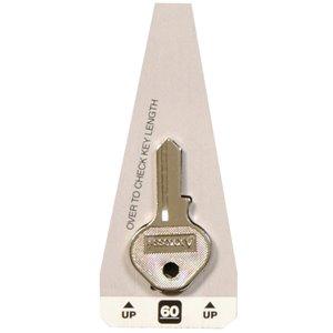 #60 Small Lock Yale Blank Key