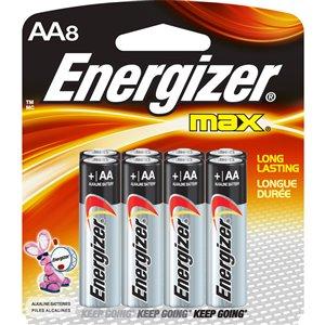 Energizer AA Alkaline Batteries (8-Pack)