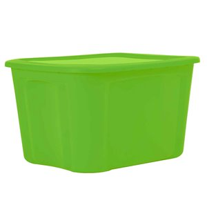 Bella Storage Solution 18-Gal Green Tote with Standard Snap Lid