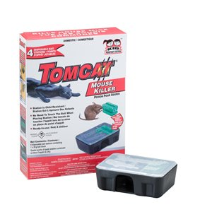 TOMCAT 4-Pack Mouse Killer Disposible Bait Station