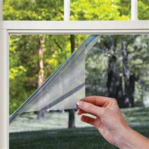 GILA 36-in W x 78-in L Platinum Gray Heat-Control Adhesive Window Film