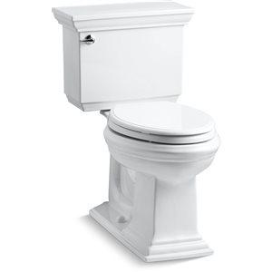 KOHLER Memoirs Stately White 2-Piece Comfort Height Single Flush Elongated Toilet (1.28 GPF)