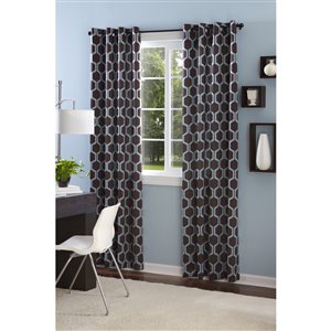Style Selections 28-in to 48-in Black Steel Single Curtain Rod