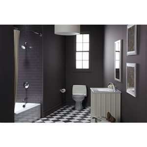 KOHLER Santa Rosa White 1-Piece Comfort Height Compact Elongated Toilet (1.28 GPF)