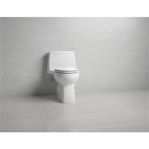 KOHLER Santa Rosa Comfort Height The Complete Solution One-Piece Compact Elongated 1.28 gpf Toilet, White