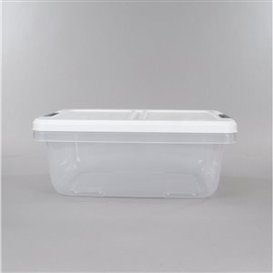 Hefty 15-qt Clear Tote with Latching Lid