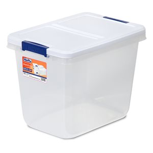 Hefty 29-qt Clear Tote with Latching Lid