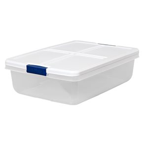 Hefty 34-qt Clear Tote with Latching Lid