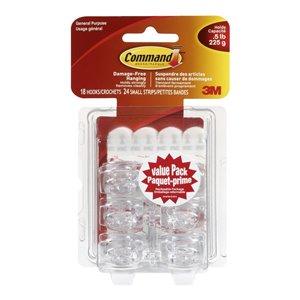 3M Command Adhesive Mini Hooks (18-Pack)