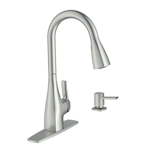 Moen Kiran Spot Resist Stainless 1 Handle Deck Mount Pull Down Kitchen Faucet Lowe S Canada