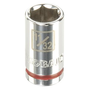 Kobalt 1/4-in Drive 6-Point Standard 11/32-in Shallow Socket