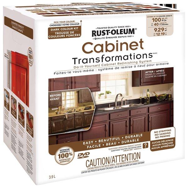 Rust Oleum Exterior Gloss Dark Cabinet Transformation Kit Lowe S Canada
