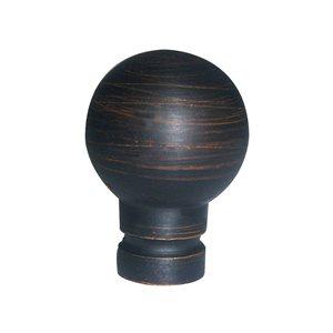 Portfolio 1.81-in L x 1.38-in Dia Aged Bronze Casual Steel Lamp Finial